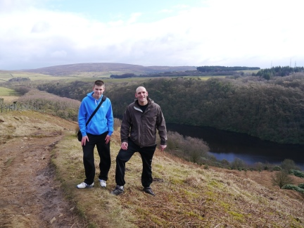 Tim and Jack above Grizedale Reservoir
