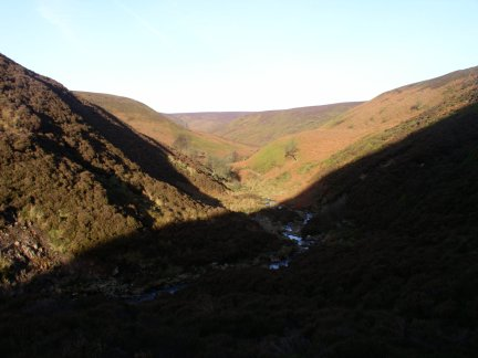 View back down the valley from the upper reaches of Bleadale