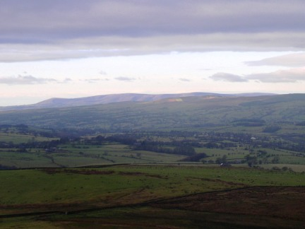 Looking towards the Bowland moors