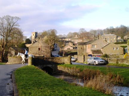 The lovely little village of Downham in the Ribble Valley