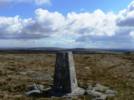 The eastern trig point somewhat bizarrely listed as Mallowdale Pike on the Ordnance Survey database