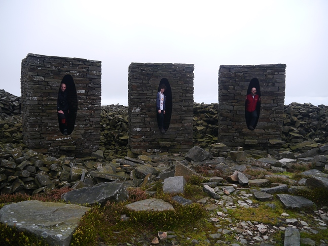 Taking our places in Andy Goldsworthy's sculpture on Clougha
