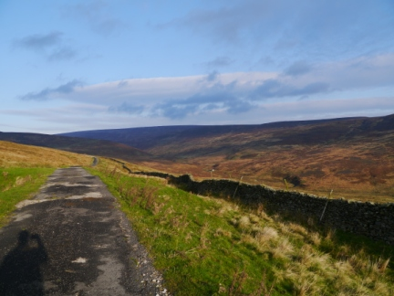 Hornby Road as it contours above Croasdale