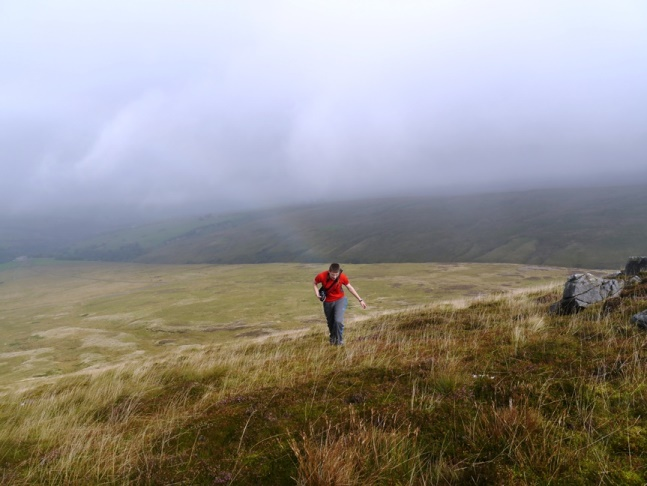 Jack on the upper slopes of Mallowdale Pike