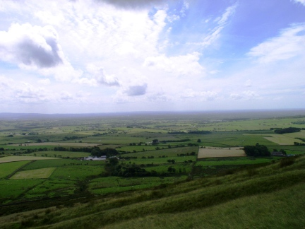 The view south over Lancashire from Parlick