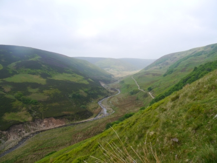 Looking down to the Langden Valley from the upper path