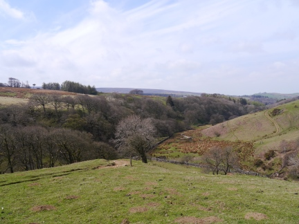 Looking back down into Littledale