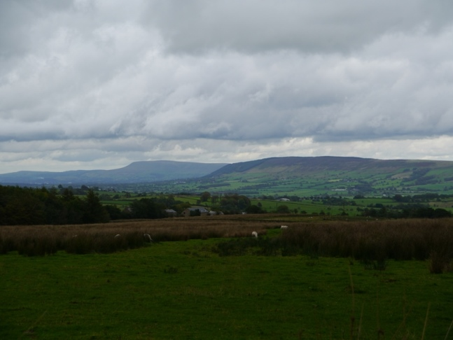 Longridge Fell and Pendle Hill