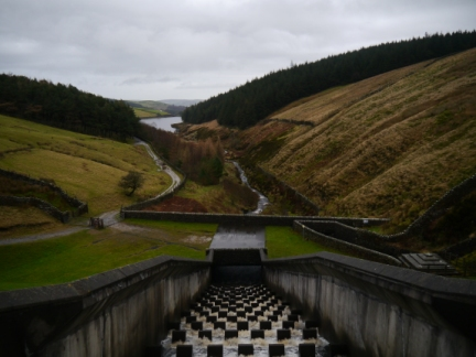 Looking back down to Lower Ogden Reservoir from the Upper dam