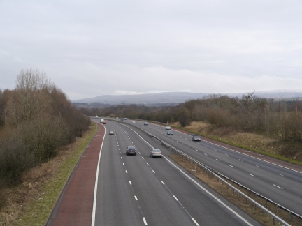 The M6 which we crossed at the very start of the walk