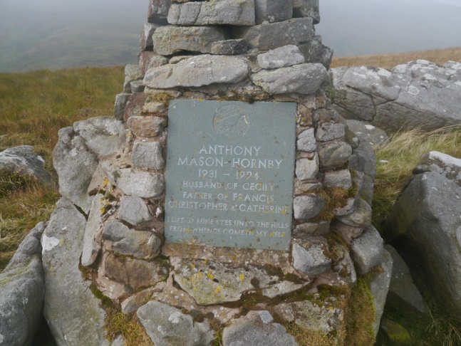 The memorial cairn on Mallowdale Pike