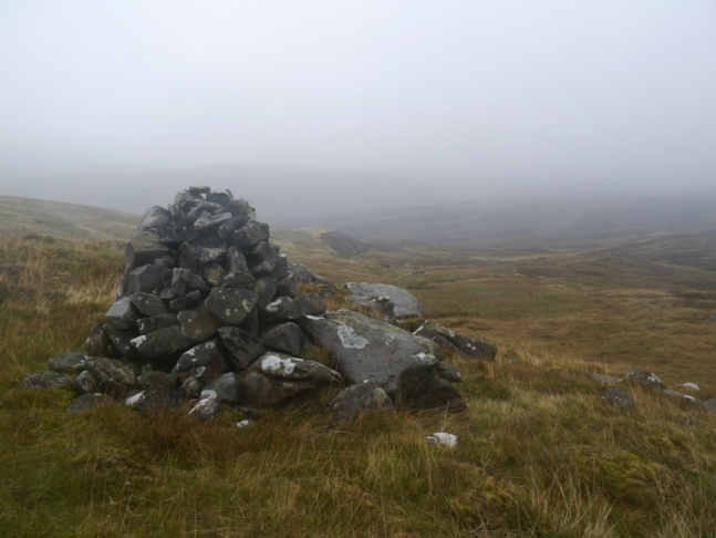 The cairn on Marking Fold Hill