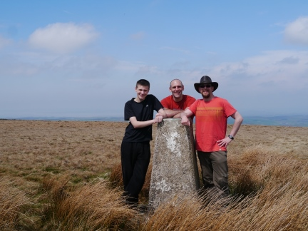 By the trig point on Caton Moor
