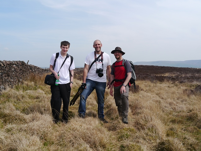 With Tim and Jack on Hodder Bank Fell