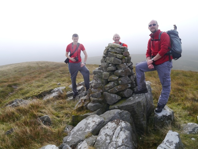 By the memorial cairn on Mallowdale Pike