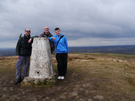 With Tim and Jack on the top of Nicky Nook