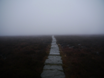 The slabbed path I followed to the top of Pendle Hill