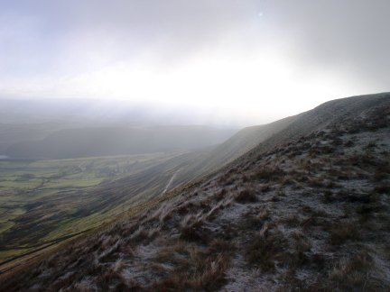 The eastern flank of Pendle Hill