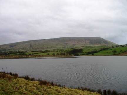 Lower Black Moss Reservoir and Pendle Hill