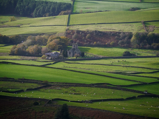 A zoom shot of Quernmore Church
