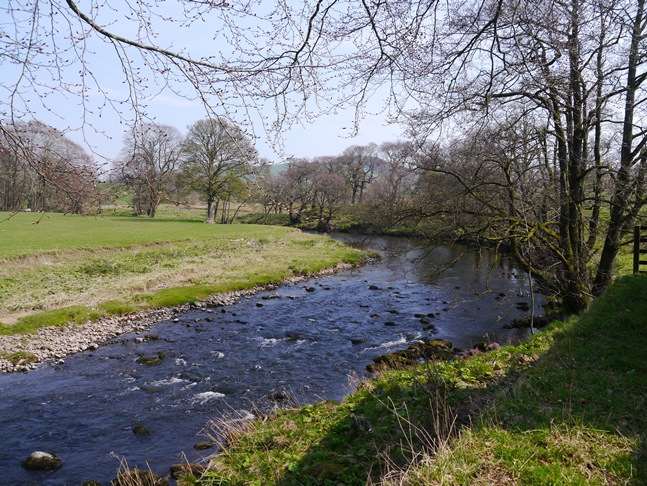 The River Hodder above Thorneyholme Hall
