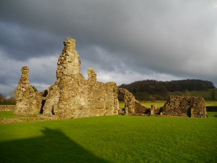 The remains of Sawley Abbey