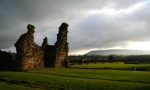 Sawley Abbey and Pendle Hill