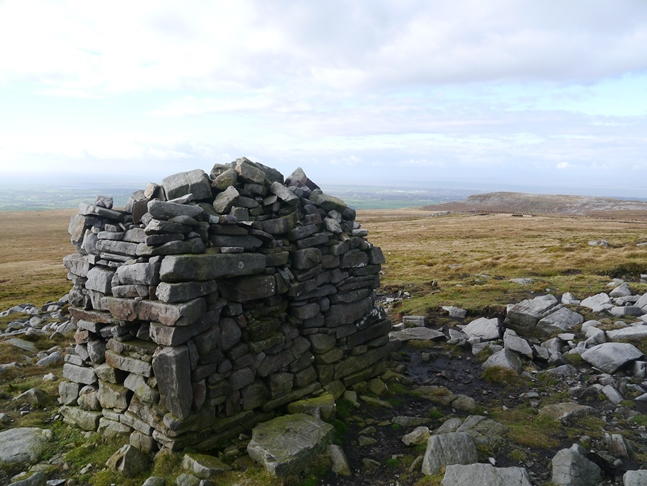 The Shooters Pile cairn on Grit Fell
