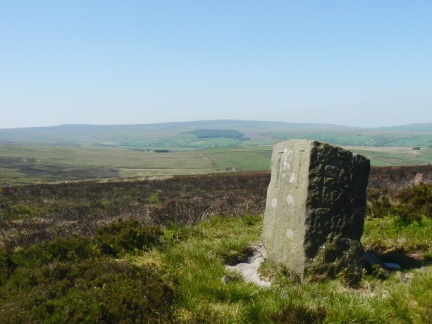 The Standard on Burn Moor looking to Ward's Stone and Wolfhole Crag