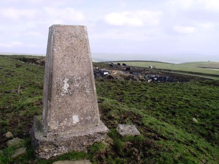 The trig point on Stang Top Moor