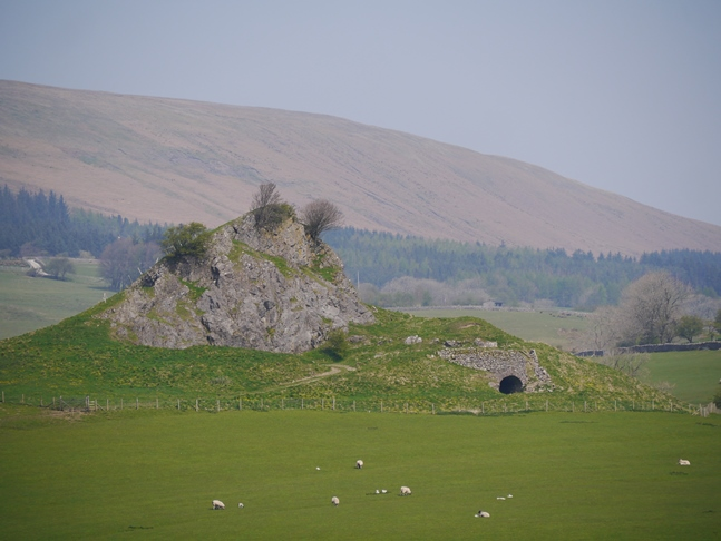 The part-quarried limestone knoll called Sugar Loaf