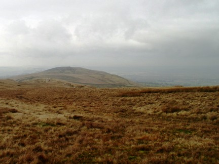 Looking back towards The Rough from Pendleton Moor