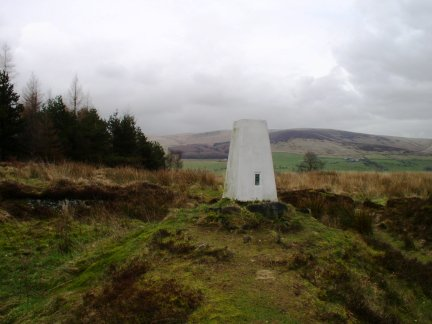 The trig point on Black Hill
