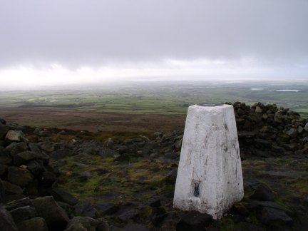 The trig point on Clougha Pike on my return from Grit Fell