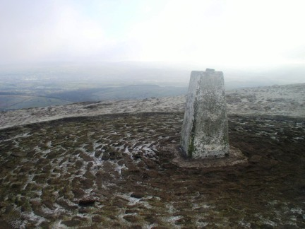 The trig point on Pendle Hill