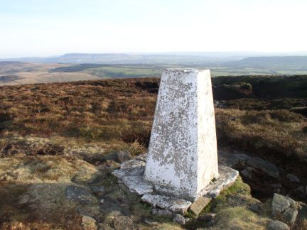The trig point on Totridge