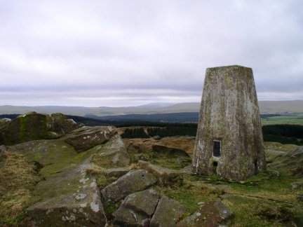 The trig point on Whelpstone Crag