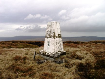The trig point on Whins Brow