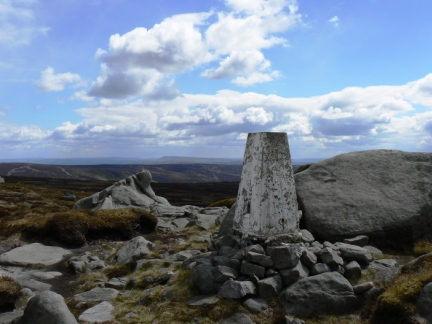The trig point on Wolfhole Crag