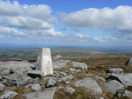 The western trig point on Ward's Stone