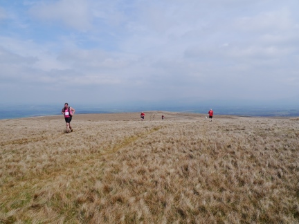 Runners participating in Wray's annual fell race