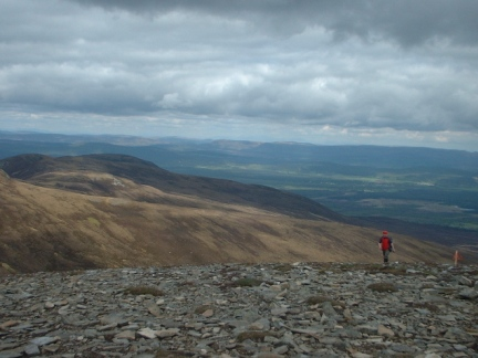 Arriving on the top of Meall a'Bhuacaille
