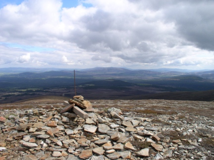 The eastern cairn on the top of Creagan Gorm