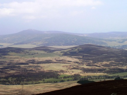 Looking across Glen Esk towards Mount Battock