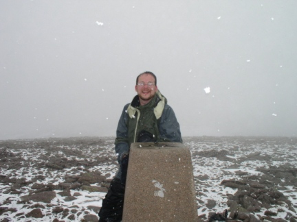 By the trig point on Ben Macdui