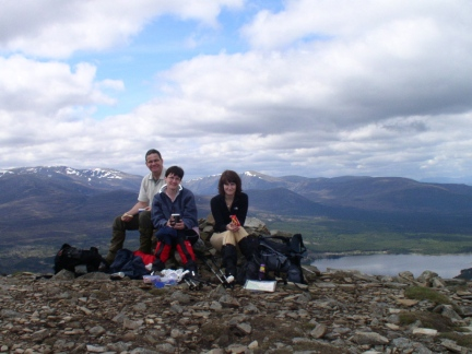 Picnic time on Meall a'Bhuacaille