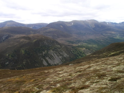 Looking across the Ryvoan Pass