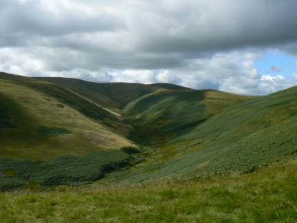 Black Hag and the upper reaches of Trowup Burn
