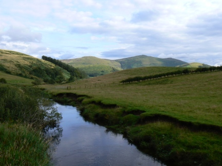Bowmont Water and Newton Tors