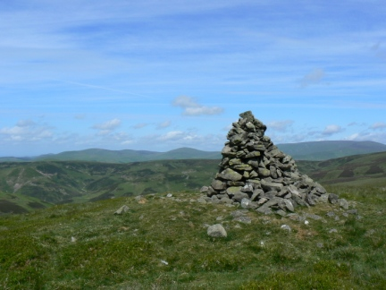 Callaw Cairn looking north to The Cheviot and The Schil